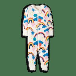 Rainbow Stripe Baby Zip Sleeper In Organic Cotton
