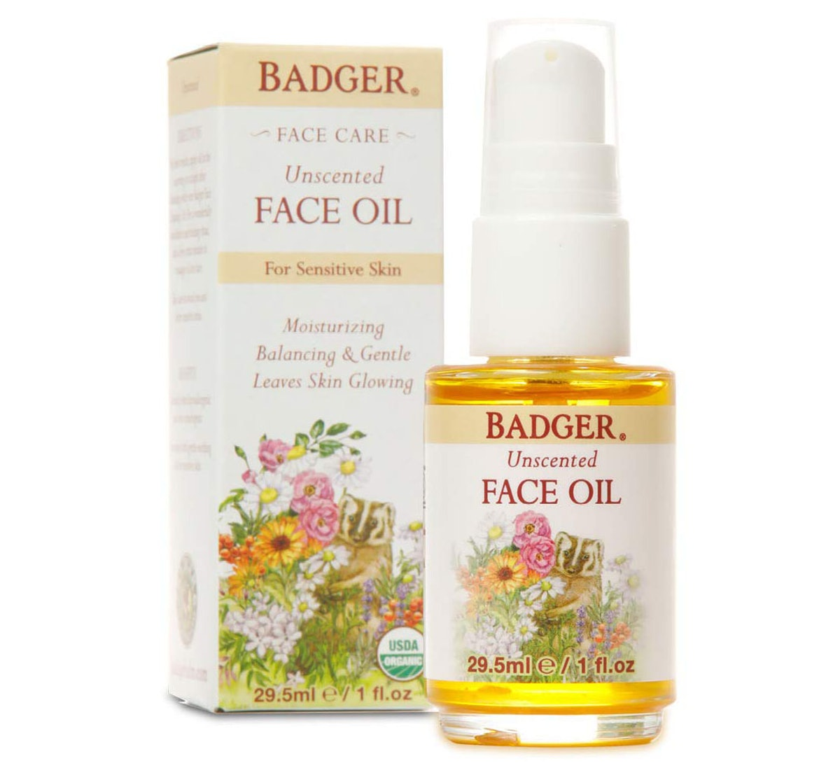 Badger Unscented Face Oil