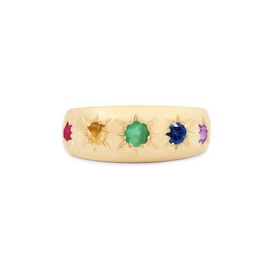 Rainbow Starburst Ring