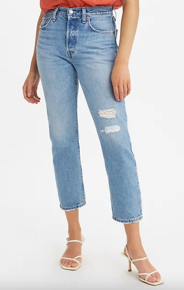 501 Original Cropped Women's Jeans In Medium Wash