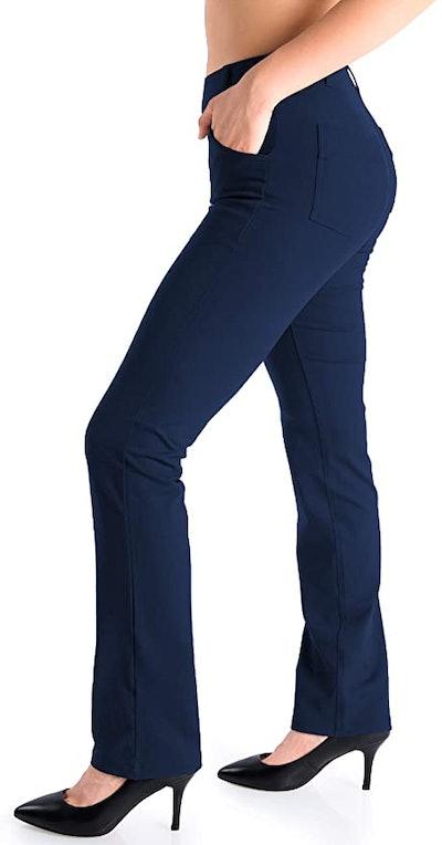 Yogipace Straight-Leg Yoga Dress Pants