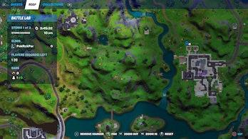 fortnite week 4 alien artifact location 4 map