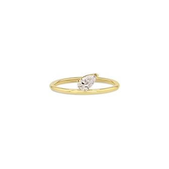 Pear Accent Ring