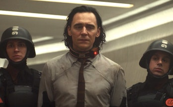 "Loki moments after Mobius ""dies"" in Loki Episode 4."