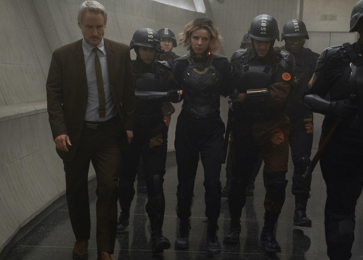 Sophia Di Martino as Sylvie, being re-arrested by the TVA in 'Loki'