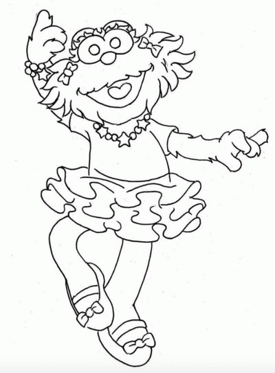 Sesame Street's Abby Cadabby as a ballerina