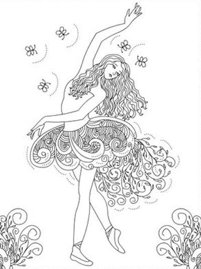 Long-haired ballet dancer