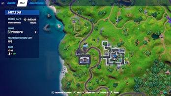fortnite week 4 alien artifact location 1 map