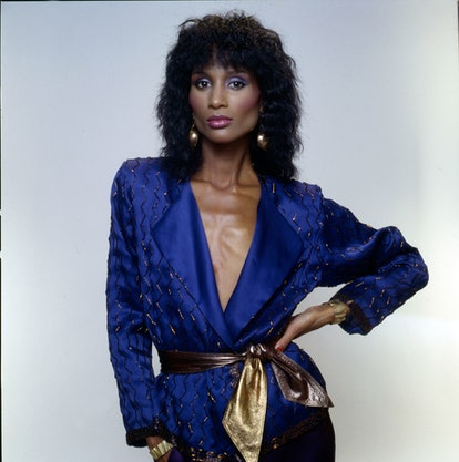 Portrait of American fashion model and actress Beverly Johnson, 1980s.