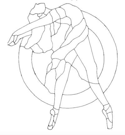 Ballet dancer on pointe leaning backward