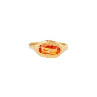 18KT Sapphire Signet Ring
