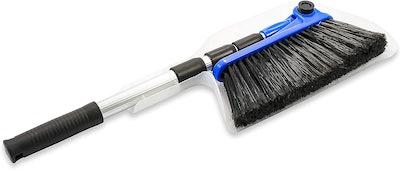 Camco Adjustable Broom & Dustpan