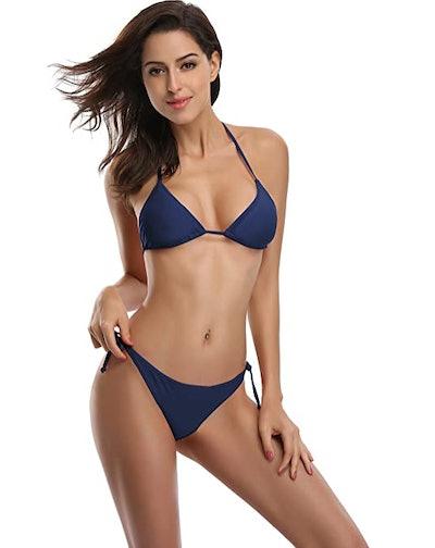 SHEKINI Triangle Top String Bikini