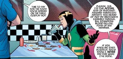 Kid Loki joins the Young Avengers in the Marvel comics. Screenshot via Marvel
