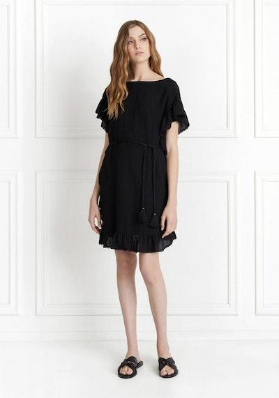 Serafina Textured Cotton Mini Dress