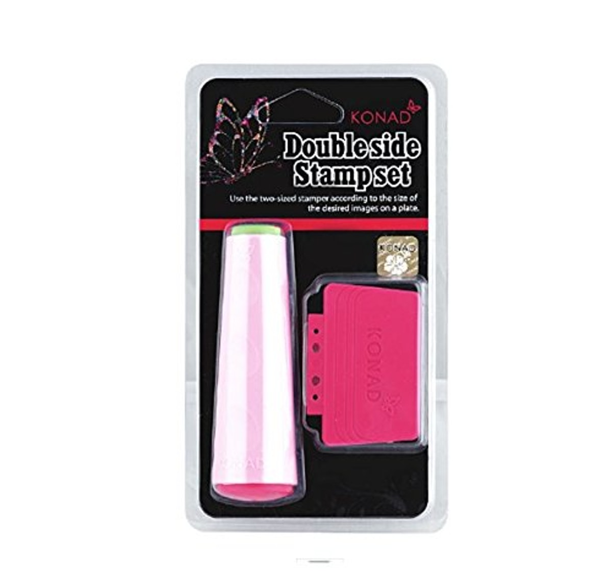 Konad Nail Art Double Ended Stamper & Scraper (2 Pieces)