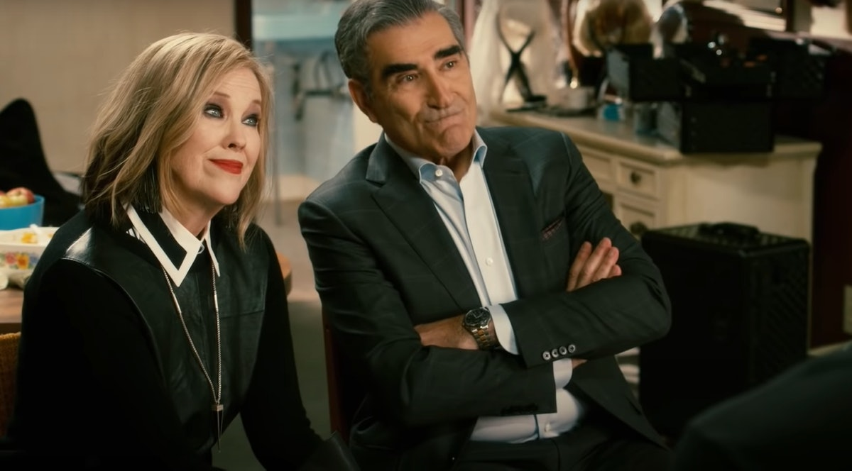 These 'Schitt's Creek' Zoom backgrounds include Johnny and Moira's team-building exercises.