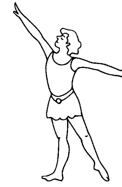 Male ballet dancer with arms extended
