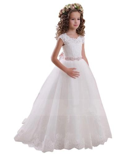 Lace Round Neck Dress