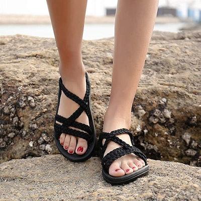MEGBYA Criss-Cross Sandals