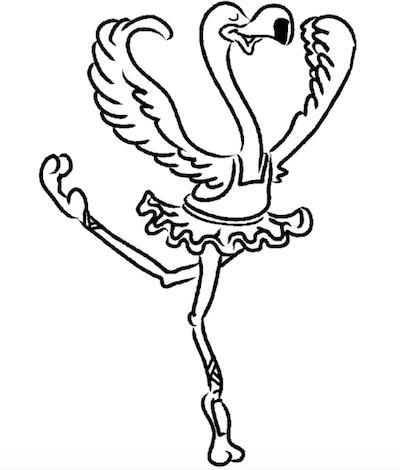 Picture of a flamingo ballerina