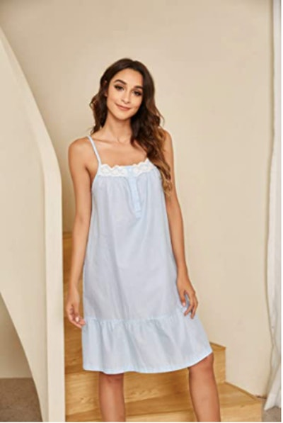 Ekouaer Cotton Sleep Dress