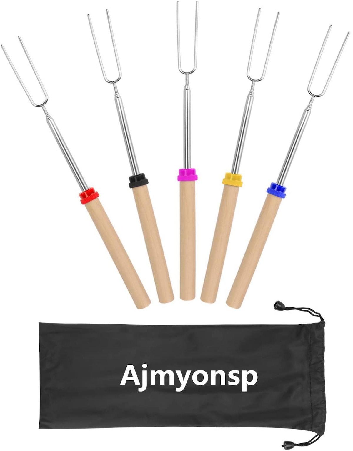 Ajmyonsp Marshmallow Roasting Sticks 5pcs