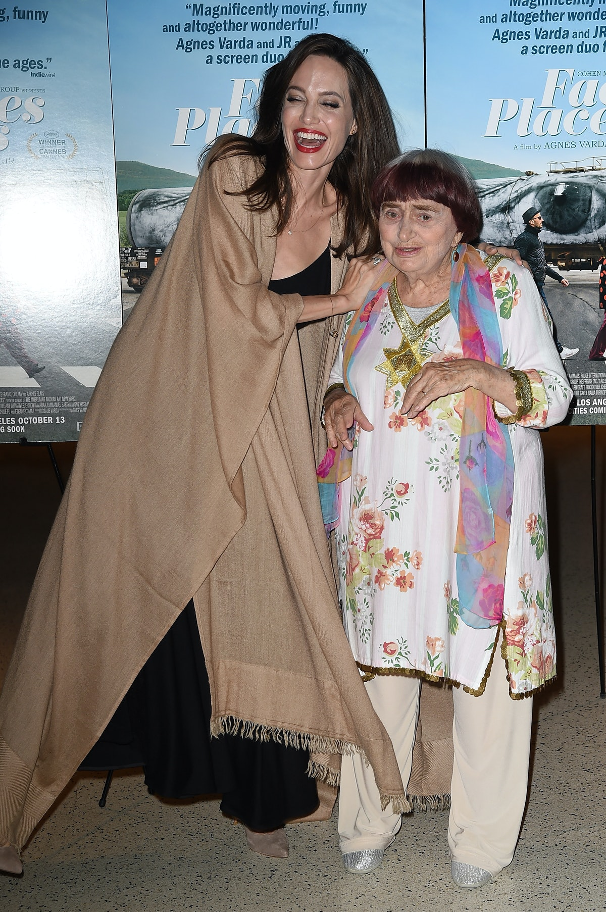 Angelina Jolie and Agnès Varda