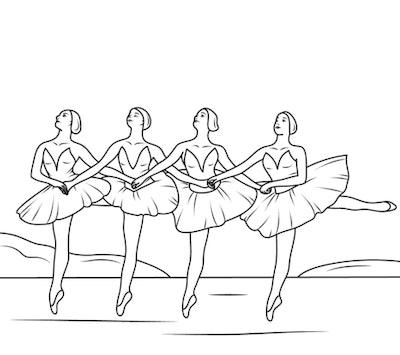Ballerinas performing Swan Lake
