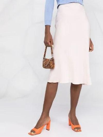 Flared Midi Skirt