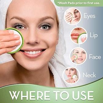 Greenzla Reusable Makeup Remover Pads (20-Pack)