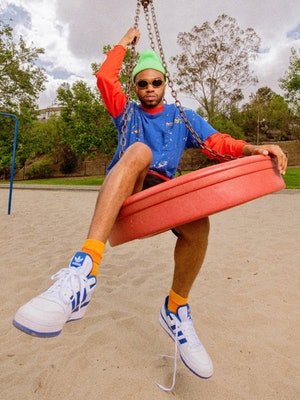Kevin Abstract wearing Adidas Forum Lows