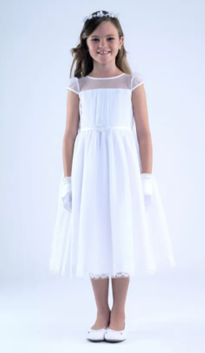 Cap Sleeve Communion Dress