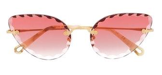 Cat-Eye Framed Sunglasses