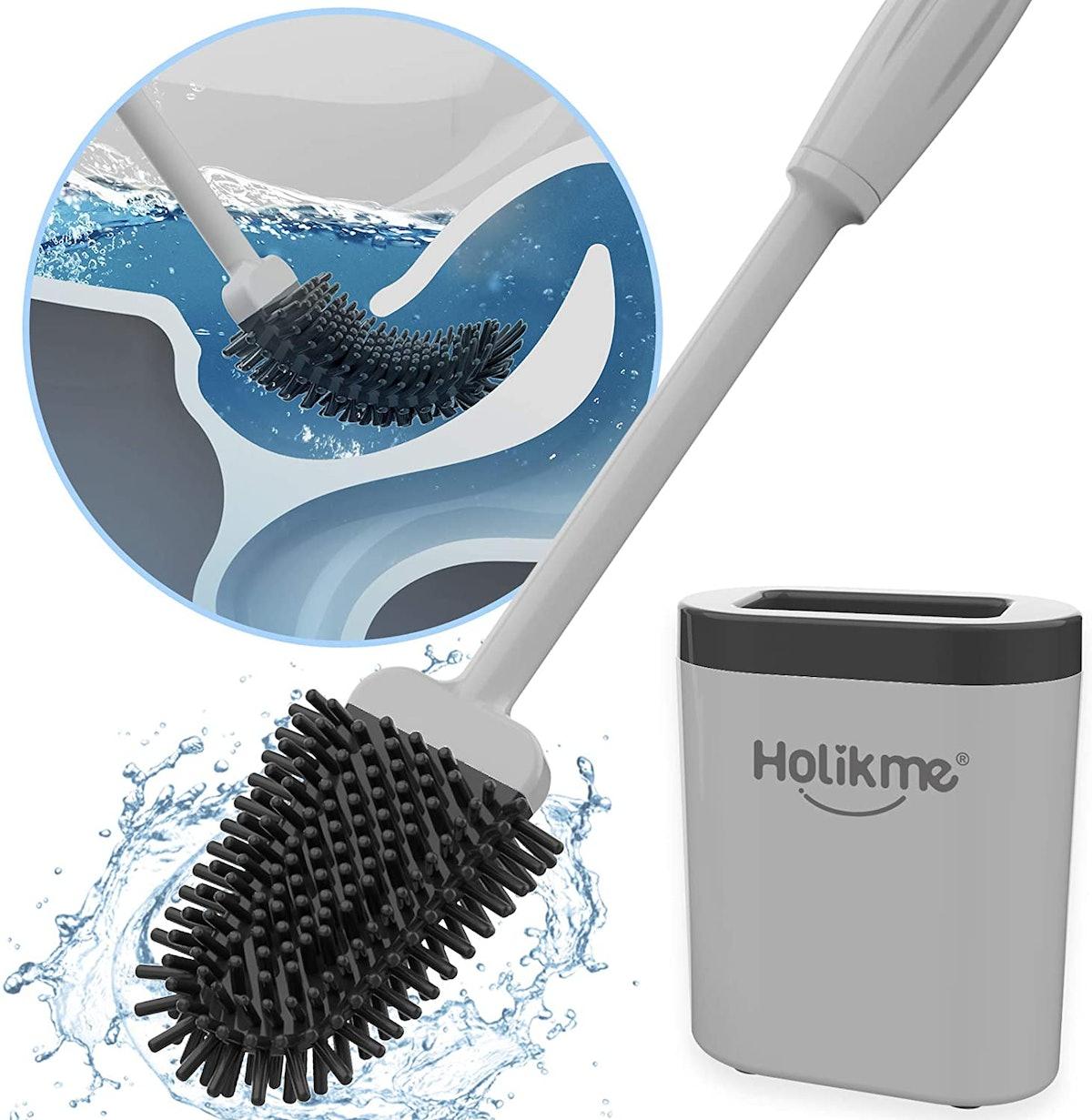 Holikme Silicone Toilet Brush and Holder Set