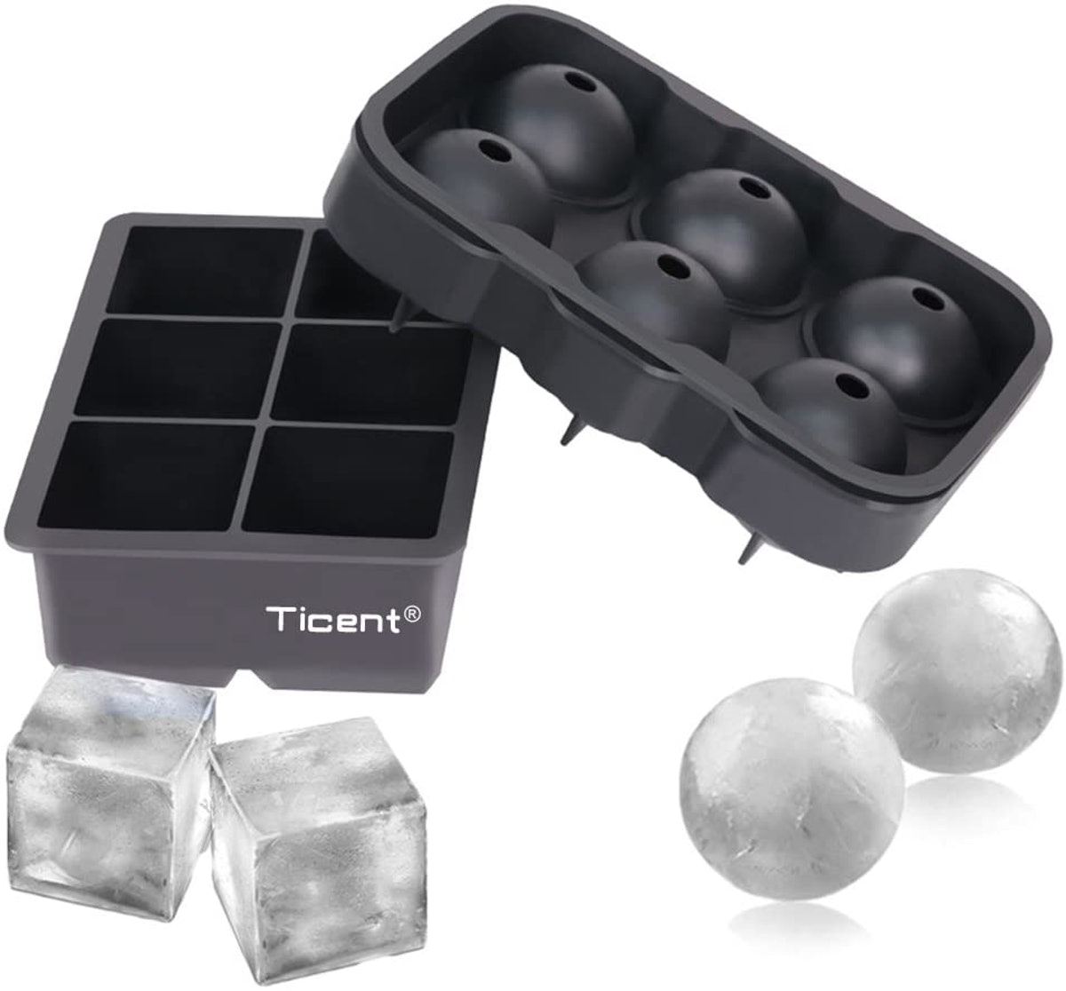 Ticent Ice Cube Trays (Set of 2)