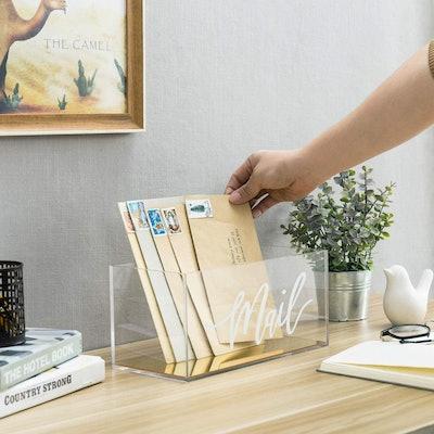 MyGift Acrylic Mail Storage Box