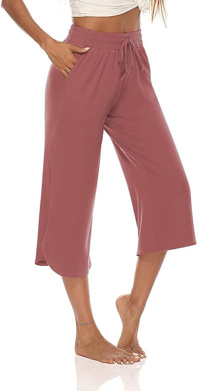 ZJCT Wide Leg Drawstring Capri Pants