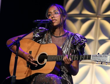 Jensen McRae performs at the Culture Creators Innovators & Leaders Awards at The Beverly Hilton on J...