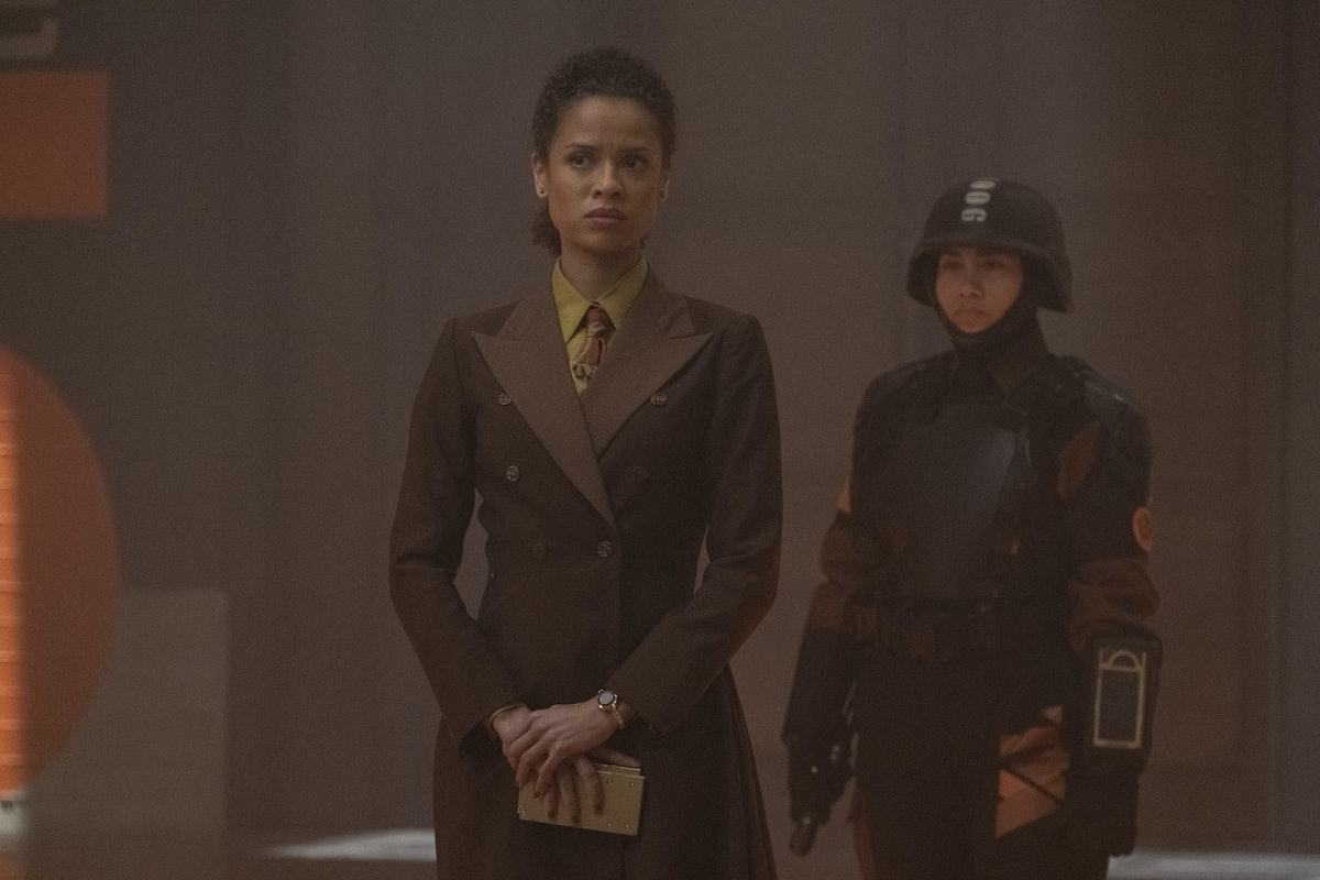 Gugu Mbatha-Raw as Ravonna Renslayer who captured Sylvie as a child for the TVA in 'Loki'