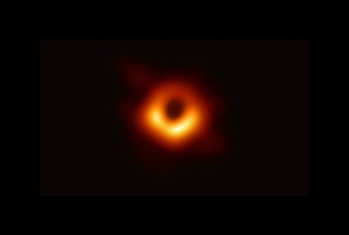 The first image of a black hole and its shadow, taken in 2019.