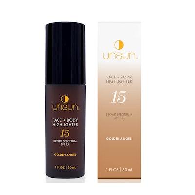 UNSUN Face + Body Highlighter SPF 15