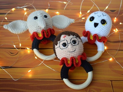 Harry, Dobby, & Hedwig Rattles