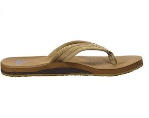 Quiksilver Carver Suede 3 Point Flip Flop Athletic Sandal