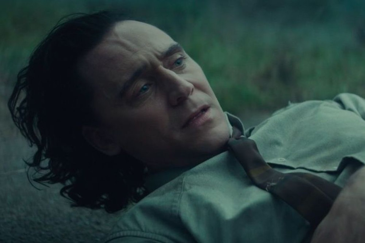 Tom Hiddleston as Loki in 'Loki's first mid-credits sequence