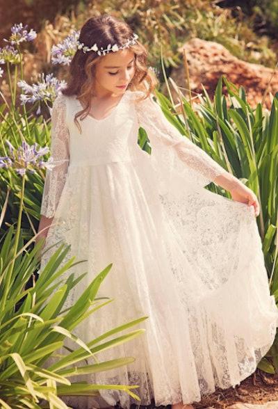 Bohemian Communion Dress