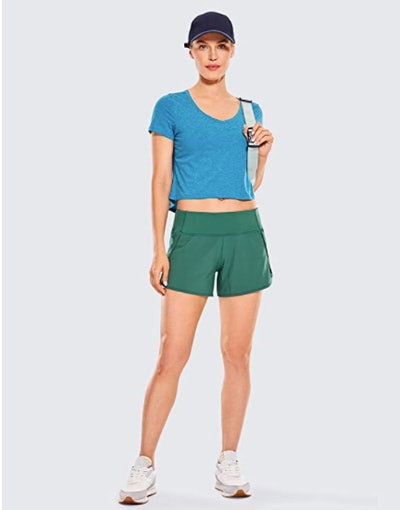 CRZ YOGA Quick-Dry Running Shorts