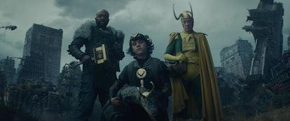 Loki isn't alone in the Episode 4 end-credits scene. Screenshot via Disney+