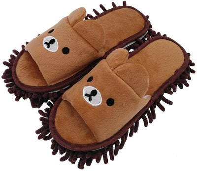 Selric Bear Mop Slippers