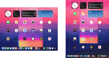 Widgets don't stay pinned when you rotate in iPad running iPadOS 15.
